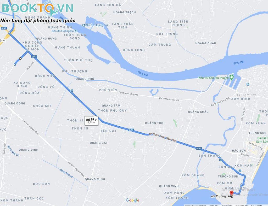 bản đồ đường đi sầm sơn